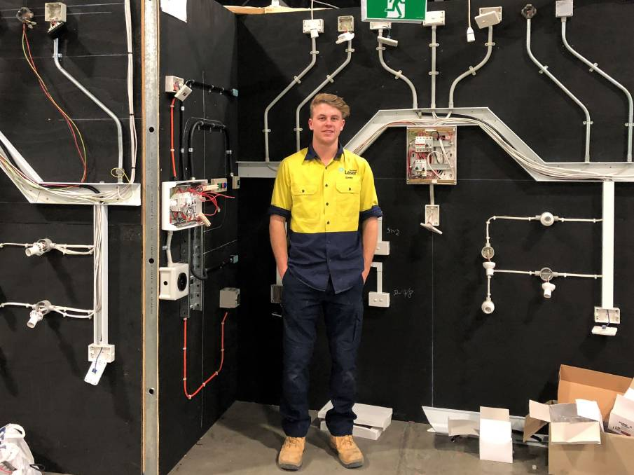 Corey Mann of Laser Electrical competed at the WorldSkill National Championships